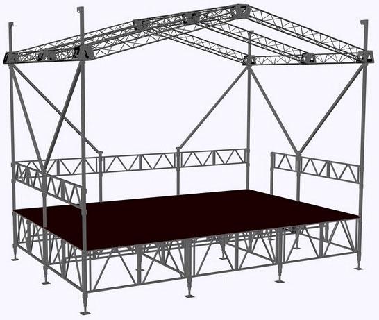 аренда сцены 6х4 - аренда сцены с крышей - цена под ключ - аренда сцены для мероприятий