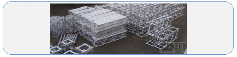 фермовые конструкции, алюминиевые конструкции фермы, алюминиевые фермы.